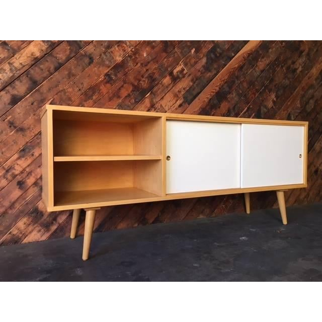 Mid Century Style Custom Maple Credenza For Sale - Image 5 of 6