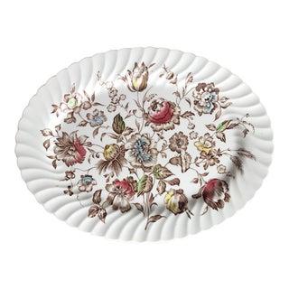 Staffordshire Bouquet England Large Ironstone Serving Platter