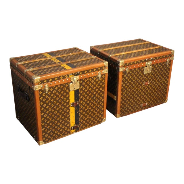 Pair of Louis Vuitton Monogram Steamer Trunks, Malles Louis Vuitton For Sale