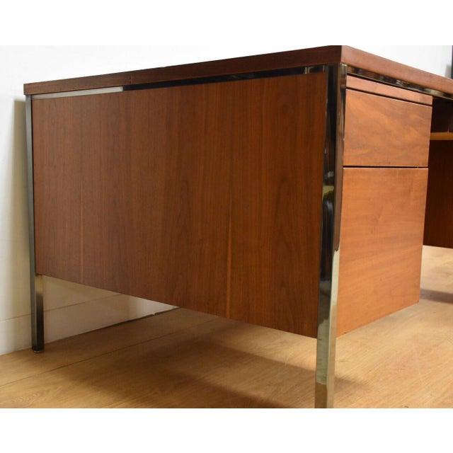 Lehigh Leopold Walnut Executive Desk For Sale - Image 4 of 11
