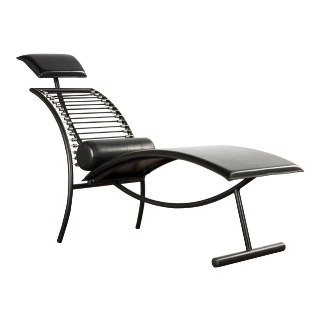1980s Vintage Postmodern Italian Chaise Lounge Chair For Sale