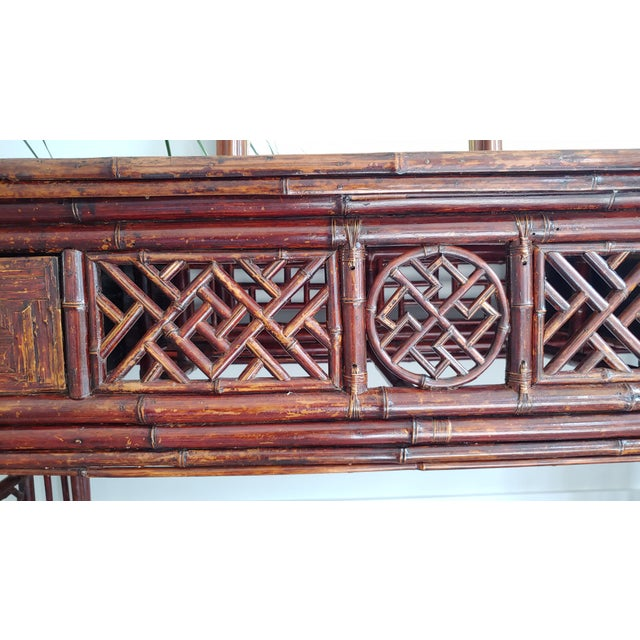 Antique Chinese Chippendale Frettwork Altar Console Table For Sale - Image 12 of 13
