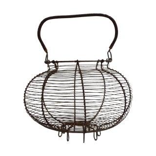 Vintage French Wire Salad Basket