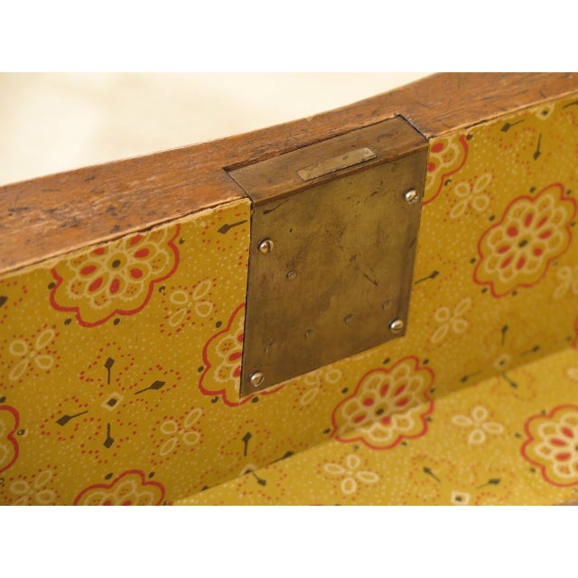 Vintage Italian 2 Drawer Walnut Commode Chest For Sale - Image 11 of 13
