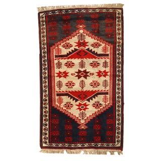 "Vintage Turkish Anatolian Handmade Rug - 2'8"" x 4'7"" For Sale"