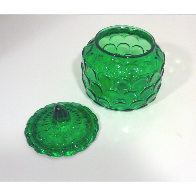 Italian Emerald Green Canister Jar For Sale - Image 5 of 5