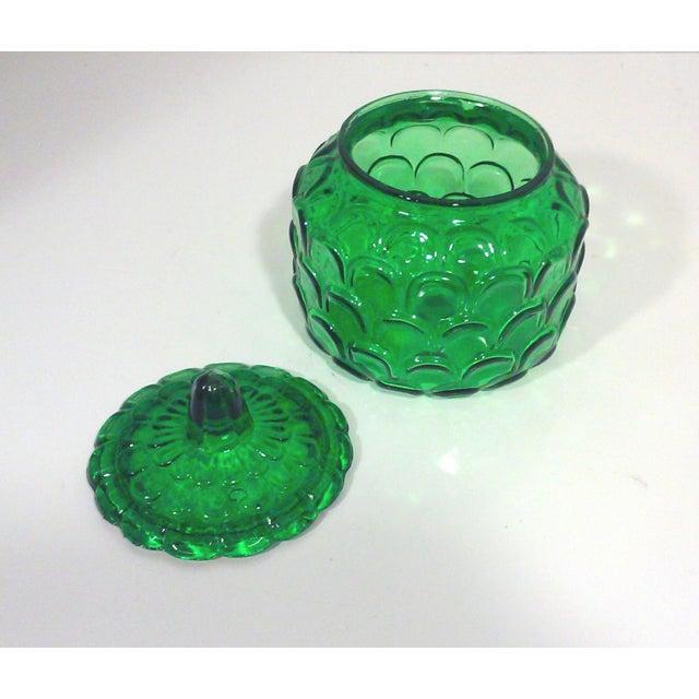 Italian Emerald Green Canister Jar - Image 5 of 5