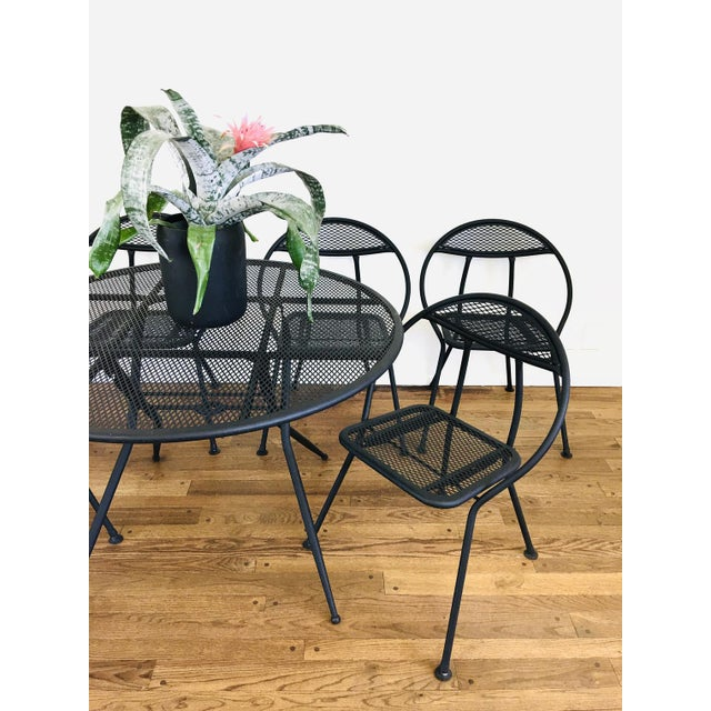 1960s 1960s Mid Century Modern Rid-Jid Folding Patio Table & 6 Chairs Set, 7 Pieces For Sale - Image 5 of 11