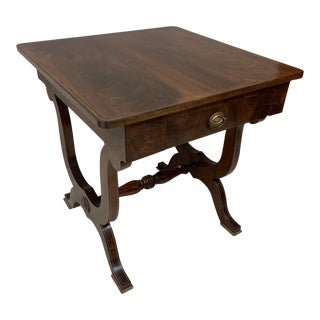 Late 19th Century Inlaid Mahogany Game Side or Breakfast Table For Sale