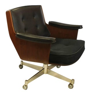 Vintage Mid Century Thonet Executive Swivel Desk Chair For Sale