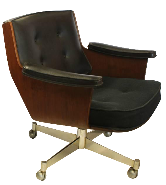 Vintage Mid Century Thonet Executive Swivel Desk Chair