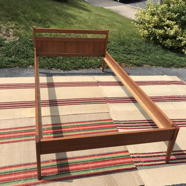1960s Danish Modern Teakwood Bedframe For Sale - Image 6 of 8