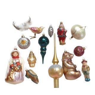 German Christmas Ornament Box - Set of 13