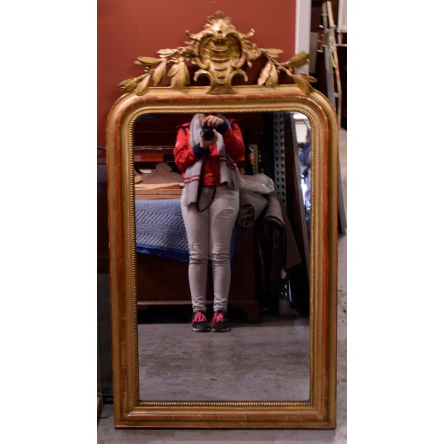 Antique French Louis XVI Giltwood Mirror - Image 9 of 10