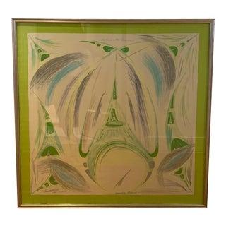Hermes Scarf, Framed For Sale