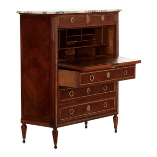 Fine French Louis XVI Style Kingwood Secretary Desk by Maison Forest