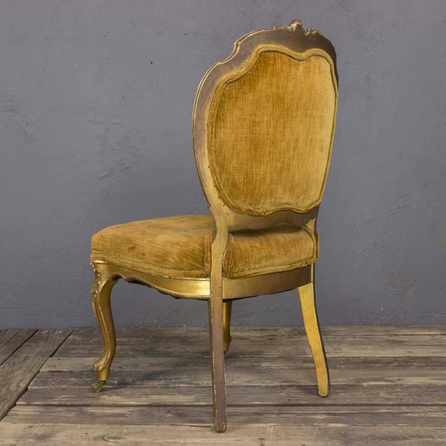 Pair of Rococo Revival Giltwood Side Chairs For Sale - Image 9 of 11
