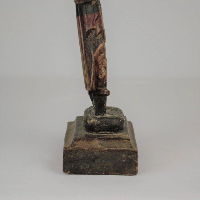 19th Century Carved Wood Youth For Sale - Image 4 of 13