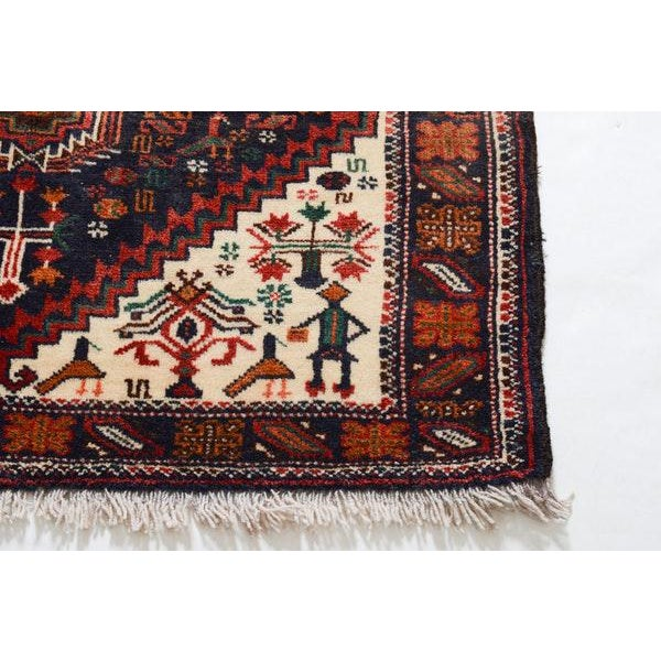 Textile Hand Knotted Persian Baluch Rug - 3′3″ × 6′10″ For Sale - Image 7 of 9