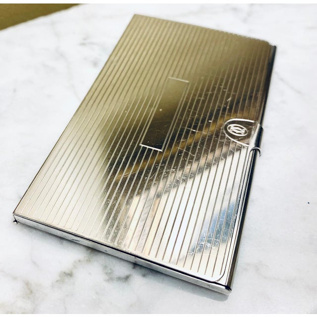 Cartier Sterling Silver business card holder. The perfect gift for the discerning person who appreciates quality and...