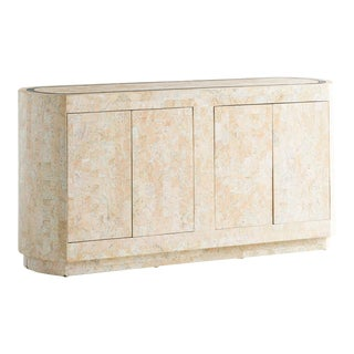 Pink Tessellated Marble Credenza For Sale