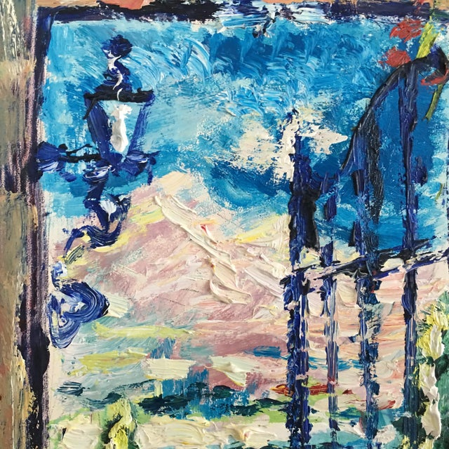 Original Spanish Courtyard Oil Painting For Sale - Image 10 of 12