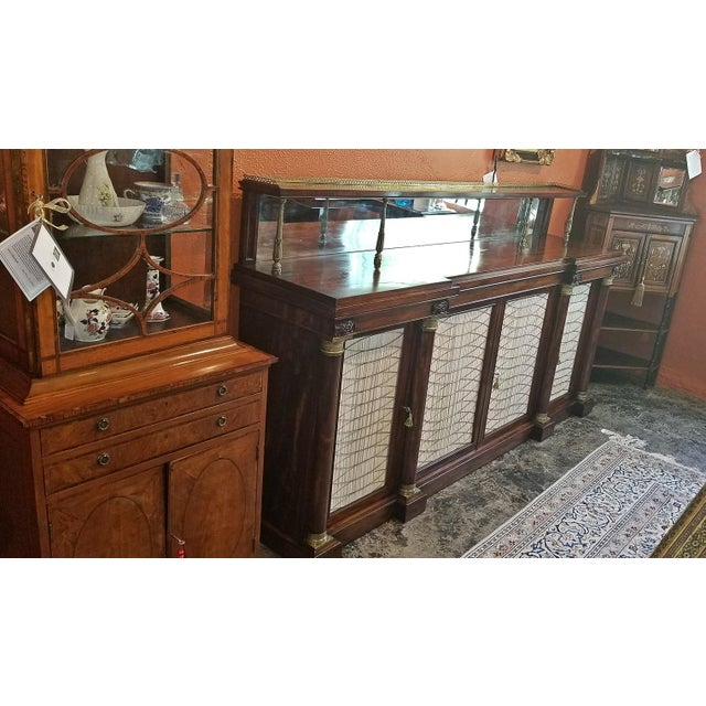 Brass Early 19c English Chiffonier in the Manner of Gillows For Sale - Image 7 of 13