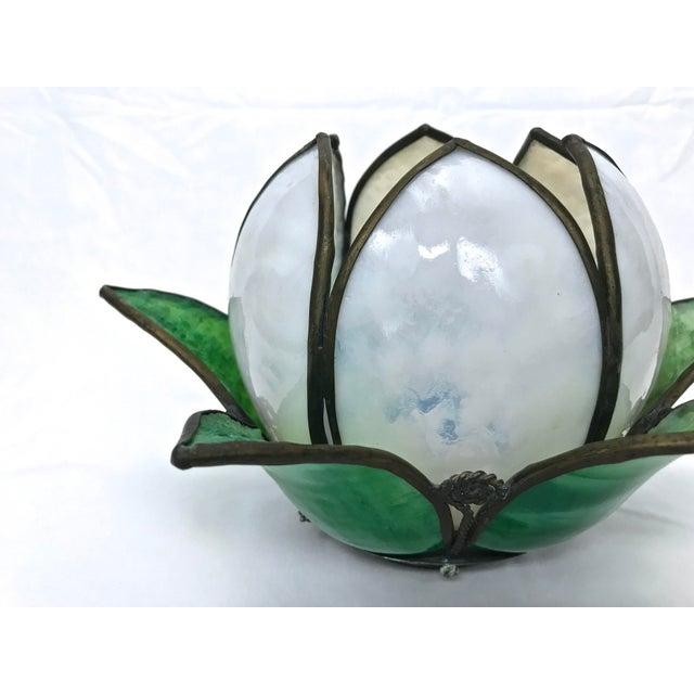 Vintage Slag Glass Tulip Light Shade - Image 6 of 8