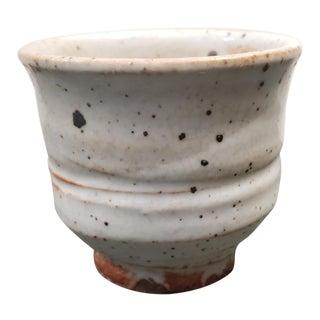 Mid 20th Century Japanese Shino Ware Stoneware Chiwan Tea Bowl For Sale