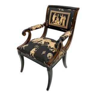 1930s Antique Greek Black Chair For Sale