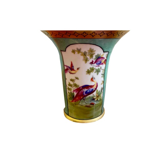 German Vase With Oriental Pheasants For Sale - Image 4 of 7
