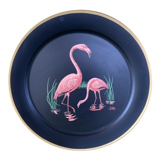 Vintage Florida Frank Childers Flamingo Wall Object For Sale