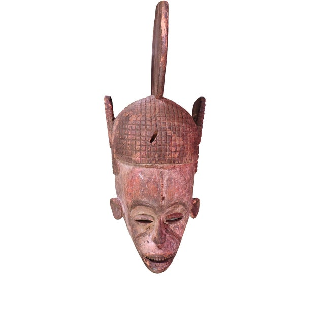 Ceremonial Igbo Tribe Wooden Mask For Sale