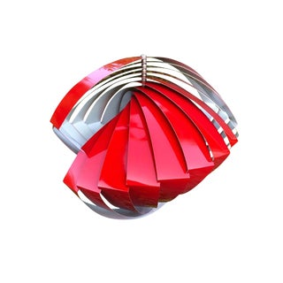 Vintage Konkylie Model P483 Golden Pendant Lamp by Louis Weisdorf for Lyfa For Sale