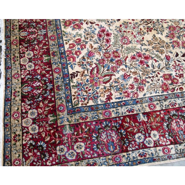 1900s, Handmade Antique Persian Kerman Lavar Rug 8.9' X 11.6' - 1b701 For Sale - Image 11 of 13