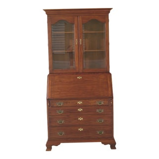 Henkel Harris Cherry Hancock Secretary Desk Bookcase For Sale