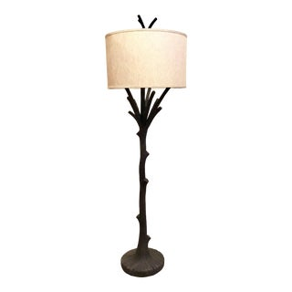 Currey & Co. Organic Modern Faux Bois Arborio Floor Lamp For Sale