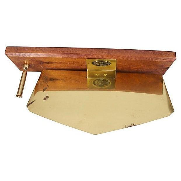 Contemporary Midcentury Brass Letter & Pen Office Desk Set For Sale - Image 3 of 5