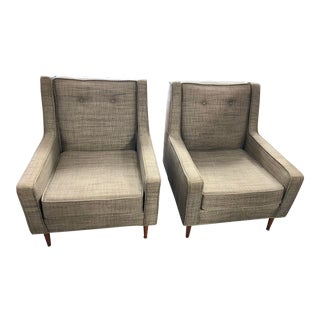 Danish Mid Century Modern Club Chairs - a Pair For Sale