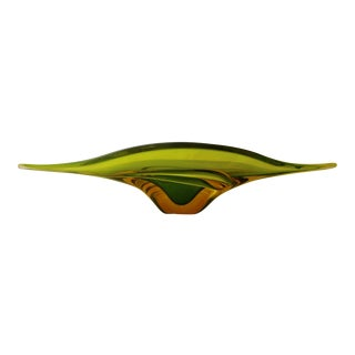 Seguso Murano Glass Centerpiece Bowl