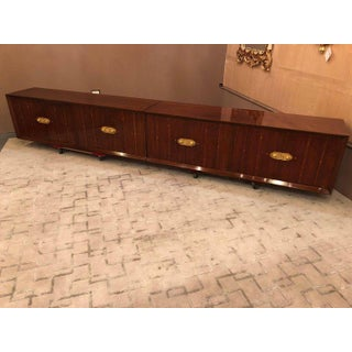 Tommi Parzinger Attributed Hanging Floating Sideboard / Bar Cabinets - A Pair Preview
