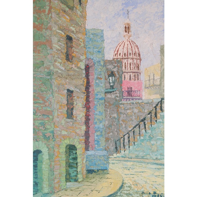 Oil Painting of European City - Image 5 of 7