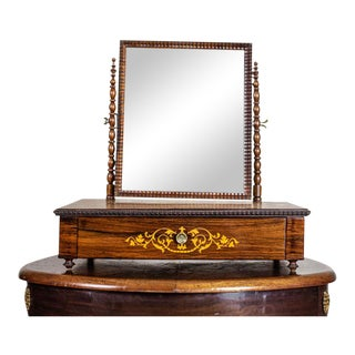 20th-Century Movable Inlaid Vanity Table For Sale