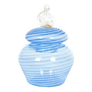 Murano Glass Covered Vanity Jar