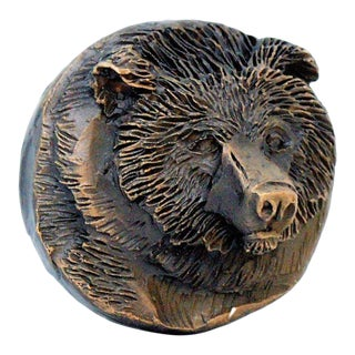 Bear Knob with Traditional Patina For Sale