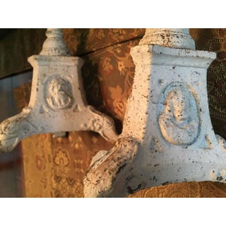French Cast-Iron Tripodal, Columnar Altar Pricket Religious Candlesticks - a Pair Preview