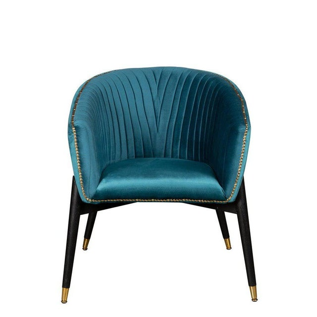 Contemporary Lucy Accent Chair in Teal For Sale - Image 3 of 6