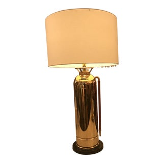 Restored Vintage Brass Fire Extinguisher Table Lamp For Sale