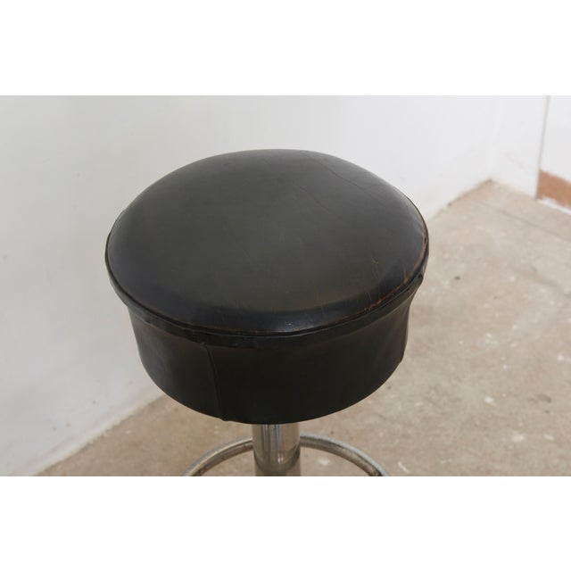 Set of Five Belgium Revolving Barstools, 1960s For Sale - Image 9 of 11