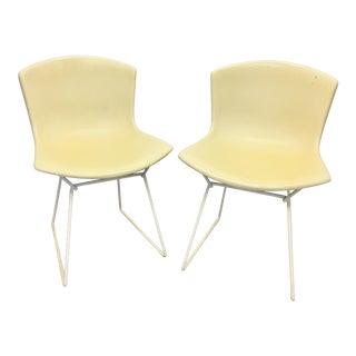 Pair Vintage Knoll Bertoia Fiberglass Dining Chairs Mid Century For Sale